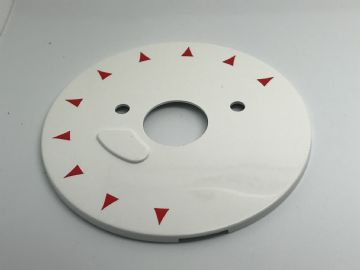 GPO White/Red Chevron Telephone Dial Back Plate